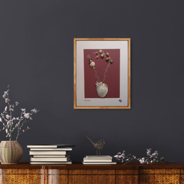 Shine Flower framed art